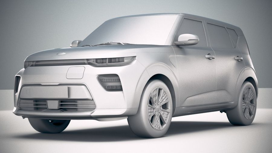 Kia Soul EV 2020 royalty-free 3d model - Preview no. 23