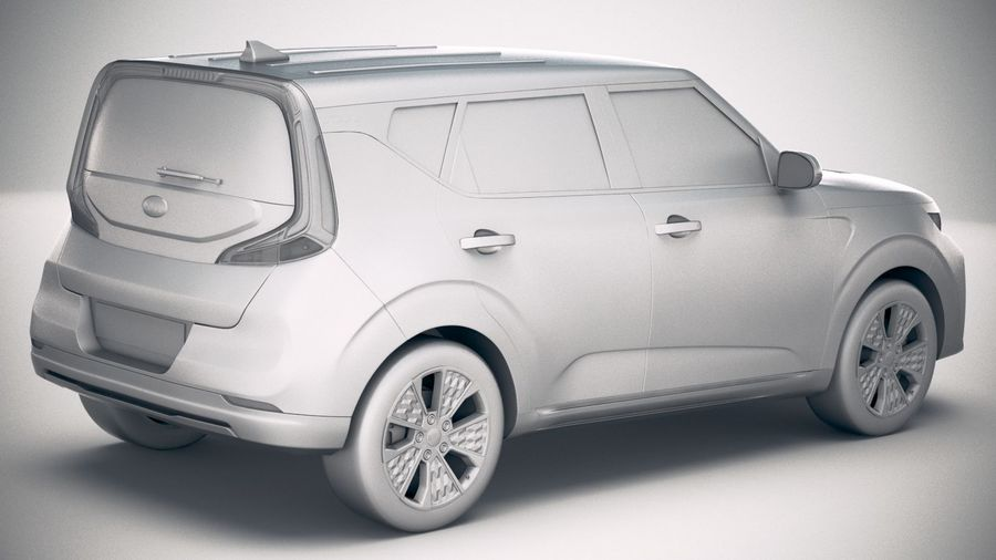 Kia Soul EV 2020 royalty-free 3d model - Preview no. 21