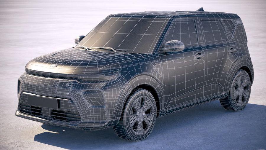 Kia Soul EV 2020 royalty-free 3d model - Preview no. 28