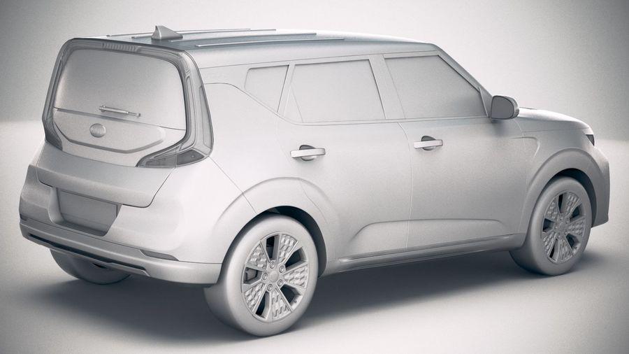 Kia Soul EV 2020 royalty-free 3d model - Preview no. 21
