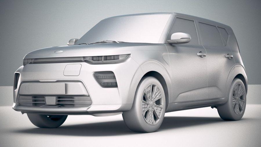 Kia Soul EV 2020 royalty-free 3d model - Preview no. 23