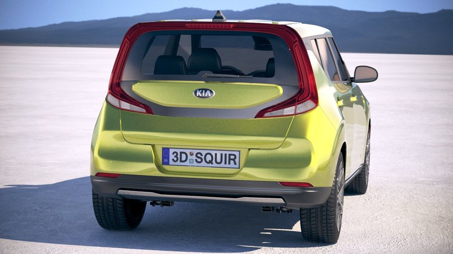 Kia Soul EV 2020 royalty-free 3d model - Preview no. 6