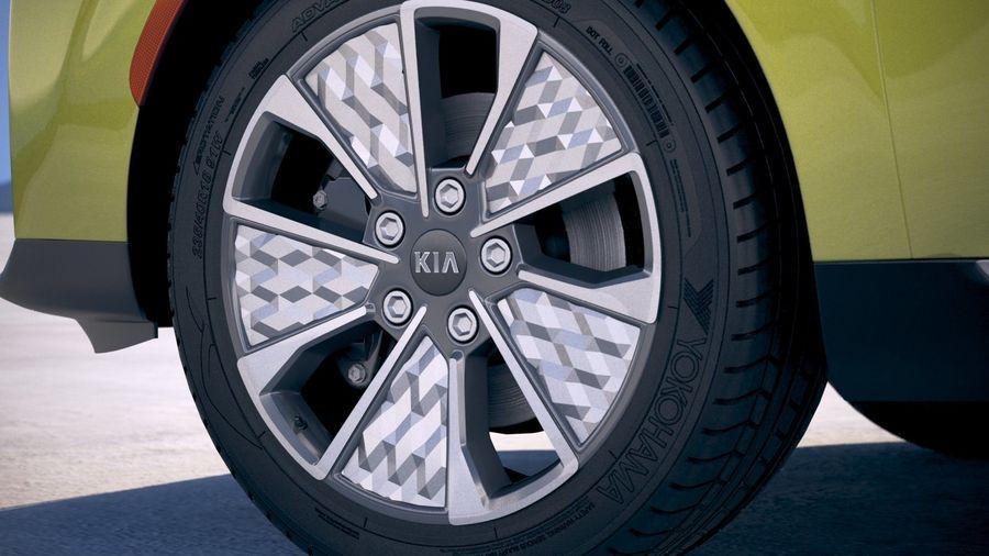 Kia Soul EV 2020 royalty-free 3d model - Preview no. 15