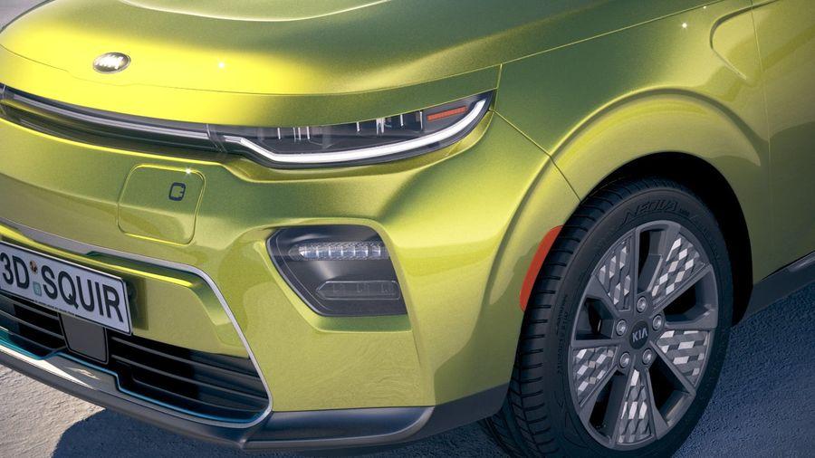 Kia Soul EV 2020 royalty-free 3d model - Preview no. 3
