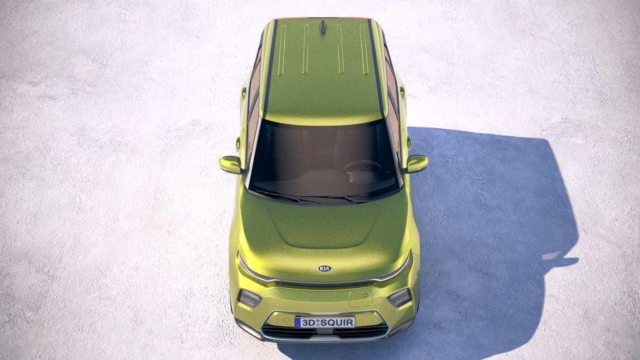 Kia Soul EV 2020 royalty-free 3d model - Preview no. 9