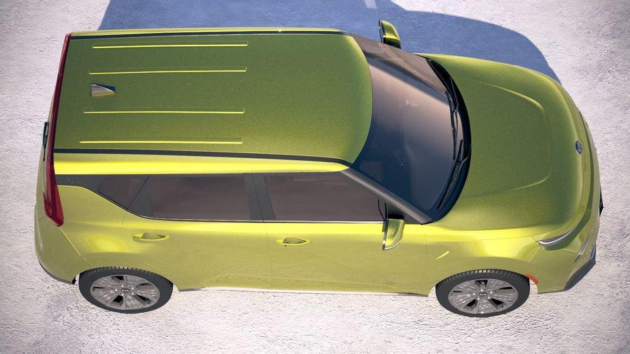 Kia Soul EV 2020 royalty-free 3d model - Preview no. 8