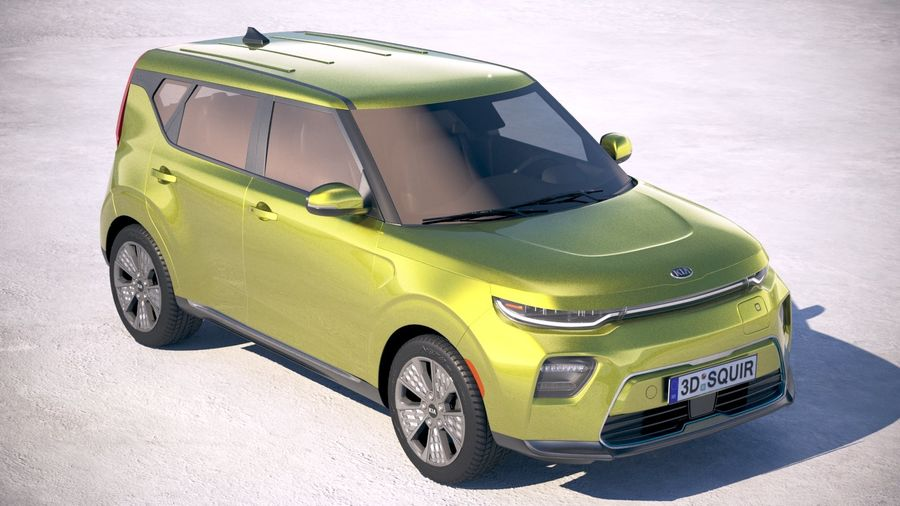 Kia Soul EV 2020 royalty-free 3d model - Preview no. 12