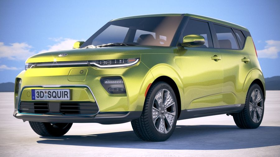 Kia Soul EV 2020 royalty-free 3d model - Preview no. 13