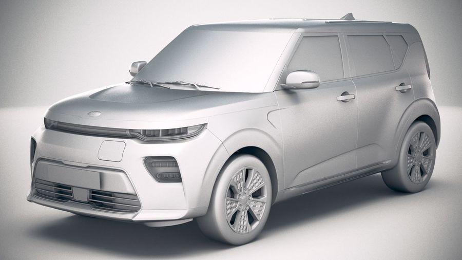 Kia Soul EV 2020 royalty-free 3d model - Preview no. 18