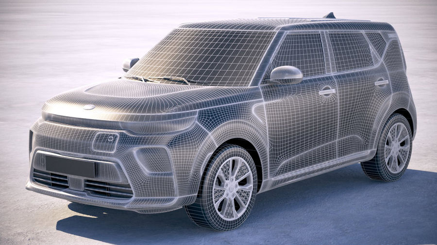 Kia Soul EV 2020 royalty-free 3d model - Preview no. 25