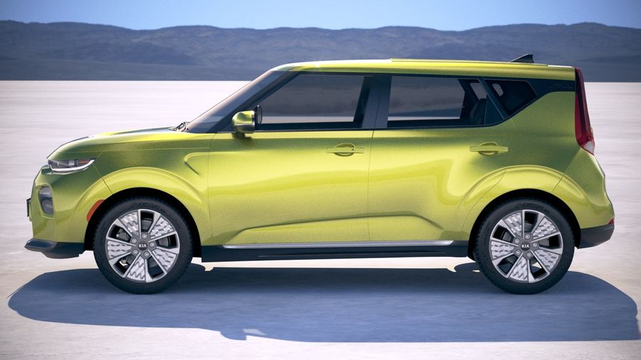 Kia Soul EV 2020 royalty-free 3d model - Preview no. 7