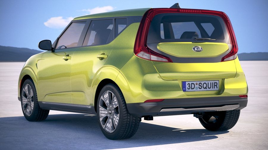 Kia Soul EV 2020 royalty-free 3d model - Preview no. 14
