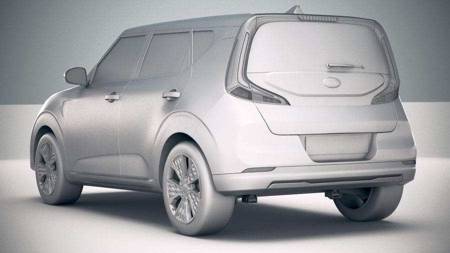 Kia Soul EV 2020 royalty-free 3d model - Preview no. 24