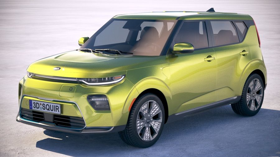 Kia Soul EV 2020 royalty-free 3d model - Preview no. 1