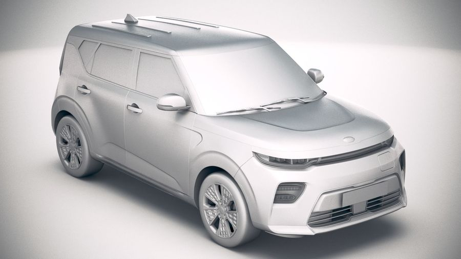 Kia Soul EV 2020 royalty-free 3d model - Preview no. 22