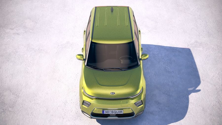 Kia Soul EV 2020 royalty-free 3d model - Preview no. 9