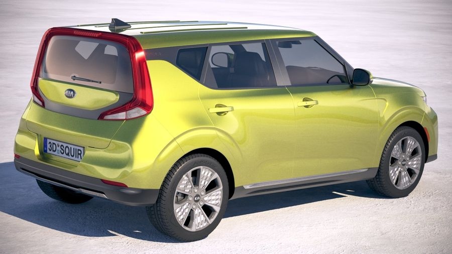 Kia Soul EV 2020 royalty-free 3d model - Preview no. 5