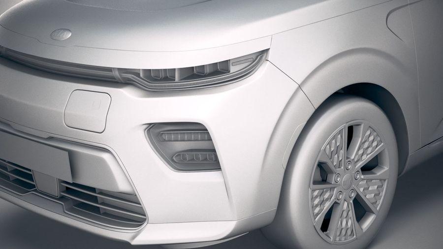 Kia Soul EV 2020 royalty-free 3d model - Preview no. 19