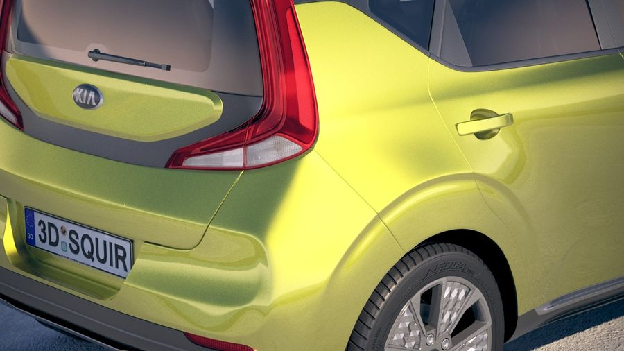 Kia Soul EV 2020 royalty-free 3d model - Preview no. 4