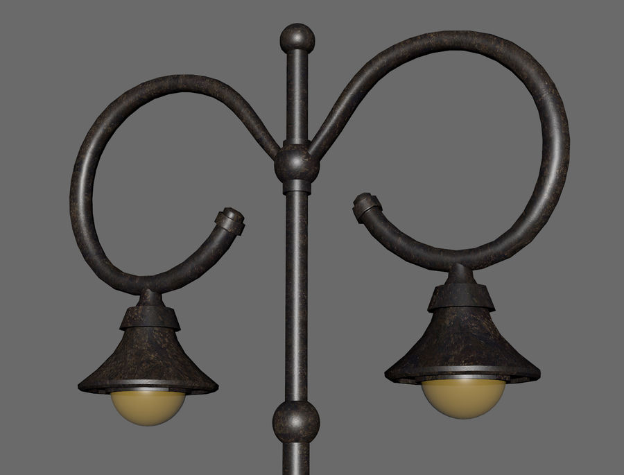 Retro Street Lamp royalty-free 3d model - Preview no. 5