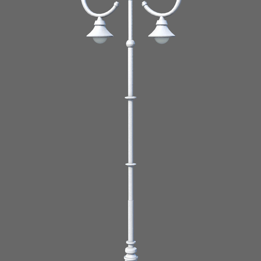Retro Street Lamp royalty-free 3d model - Preview no. 4