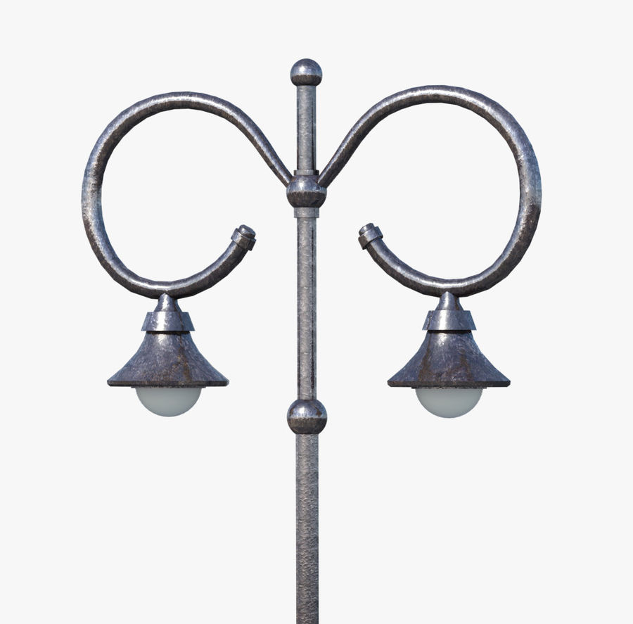 Retro Street Lamp royalty-free 3d model - Preview no. 3