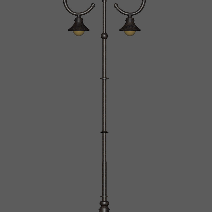 Retro Street Lamp royalty-free 3d model - Preview no. 7