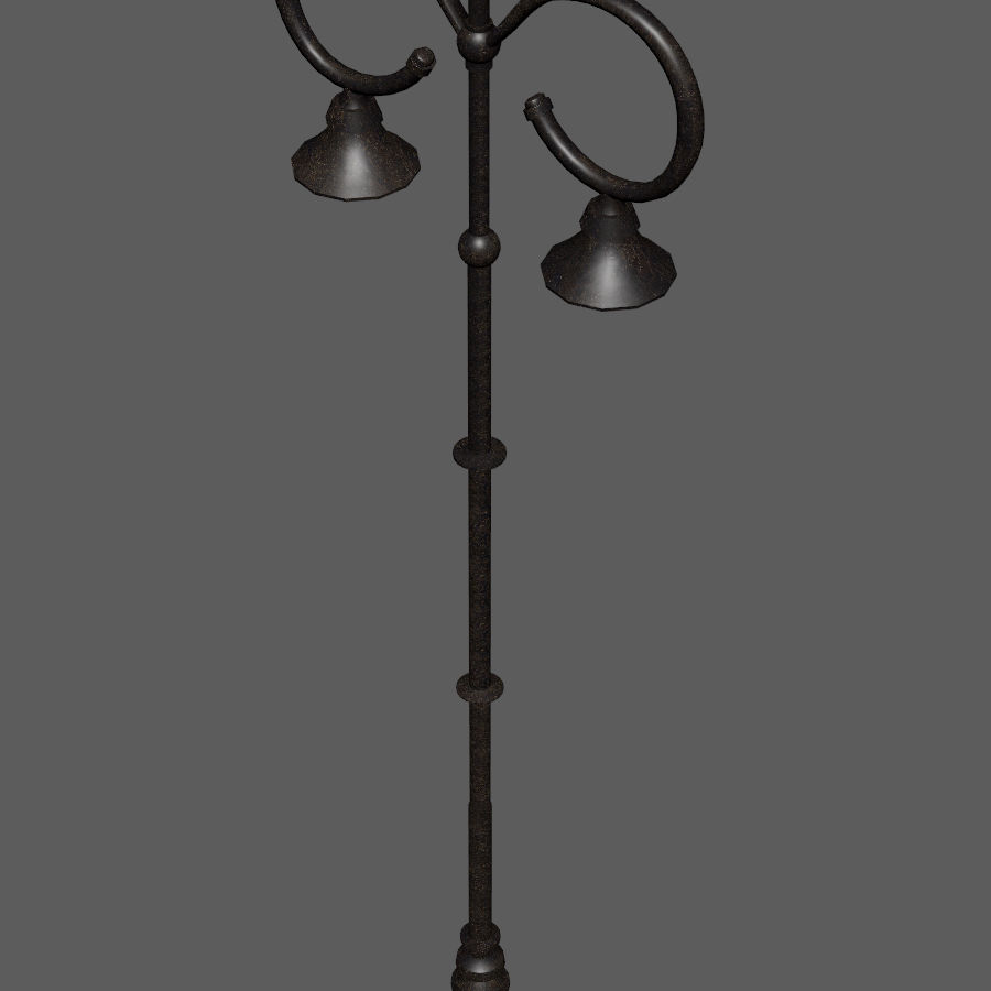 Retro Street Lamp royalty-free 3d model - Preview no. 9