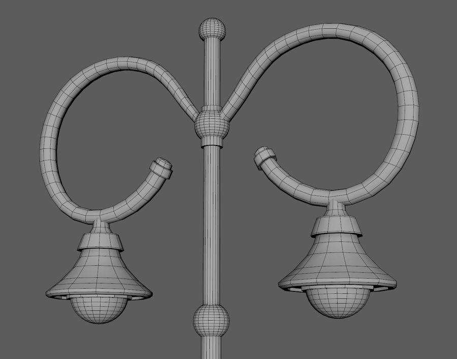 Retro Street Lamp royalty-free 3d model - Preview no. 6