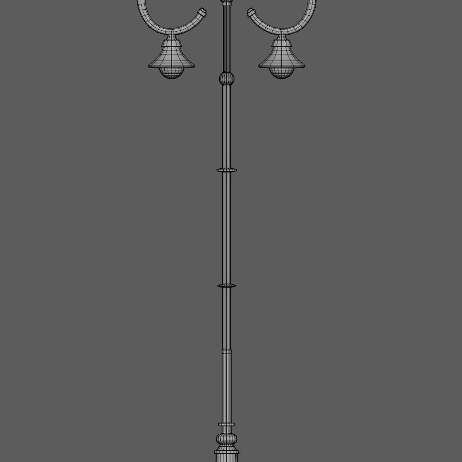 Retro Street Lamp royalty-free 3d model - Preview no. 8