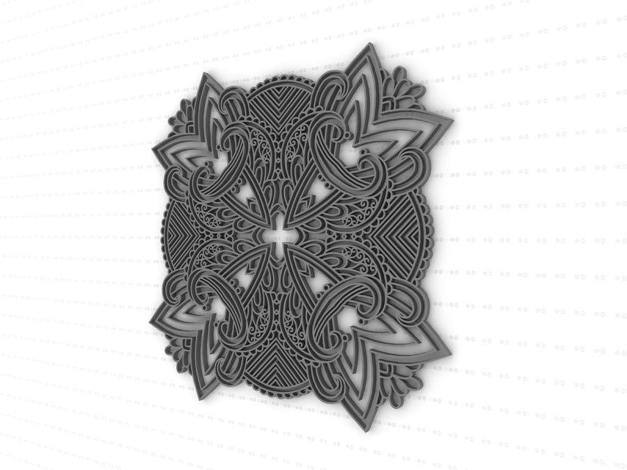 Mandala royalty-free 3d model - Preview no. 5