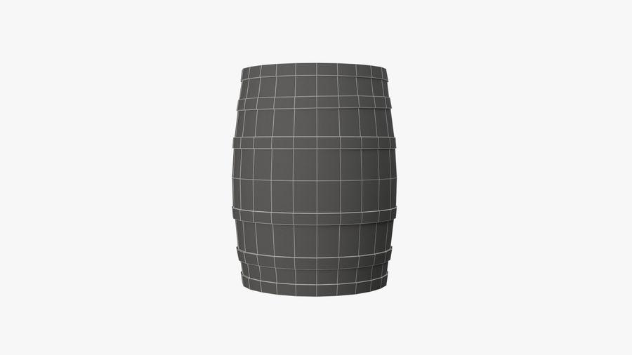 Wooden Barrel royalty-free 3d model - Preview no. 13