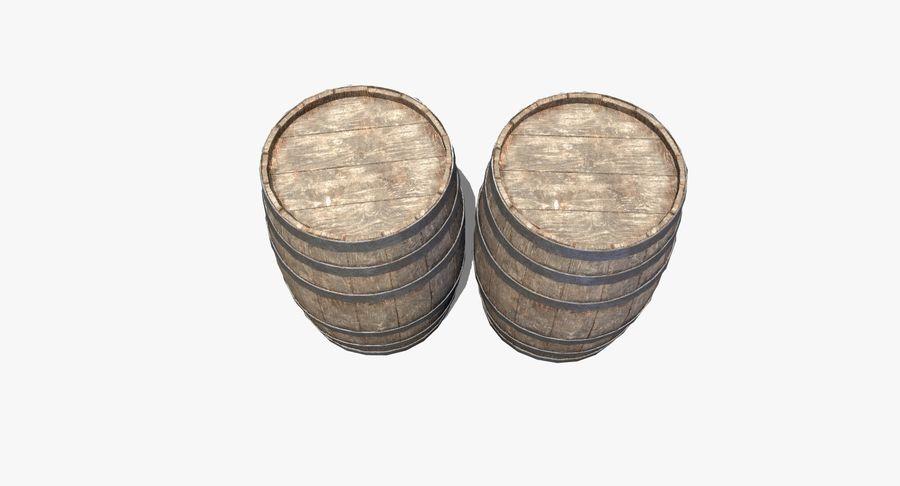 Wooden Barrel royalty-free 3d model - Preview no. 9