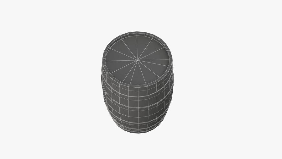Wooden Barrel royalty-free 3d model - Preview no. 14