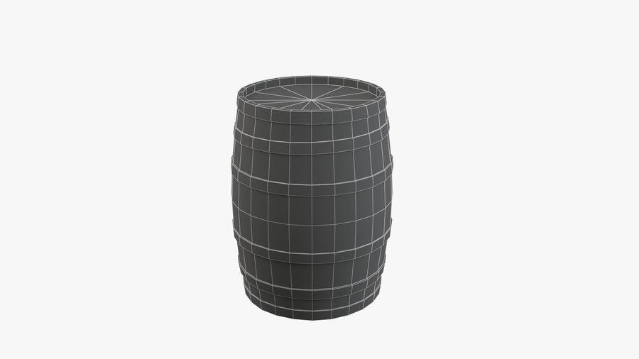 Wooden Barrel royalty-free 3d model - Preview no. 11