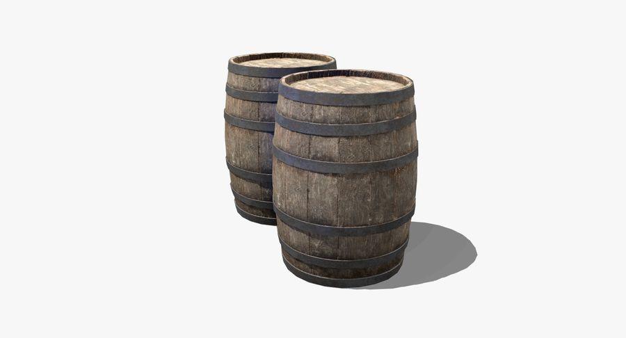 Wooden Barrel royalty-free 3d model - Preview no. 8