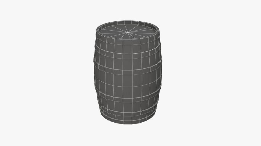 Wooden Barrel royalty-free 3d model - Preview no. 12