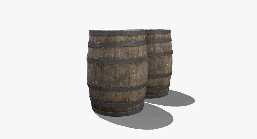 Wooden Barrel royalty-free 3d model - Preview no. 7