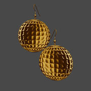 Disc Earrings 3d model