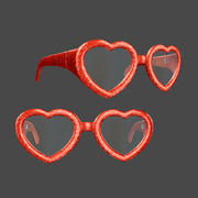 Copos de coração 3d model