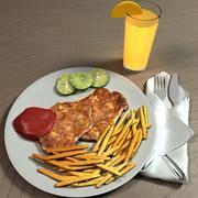 Chicken Chop 3d model