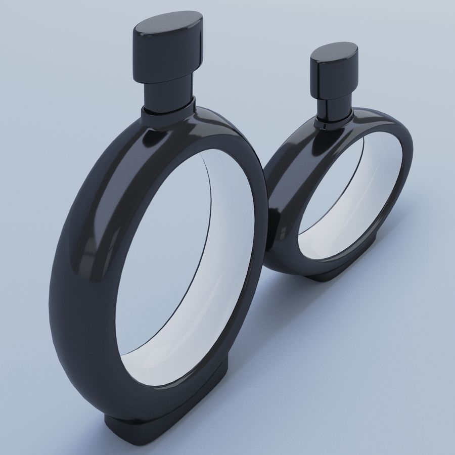 Black Decanter Glass royalty-free 3d model - Preview no. 2