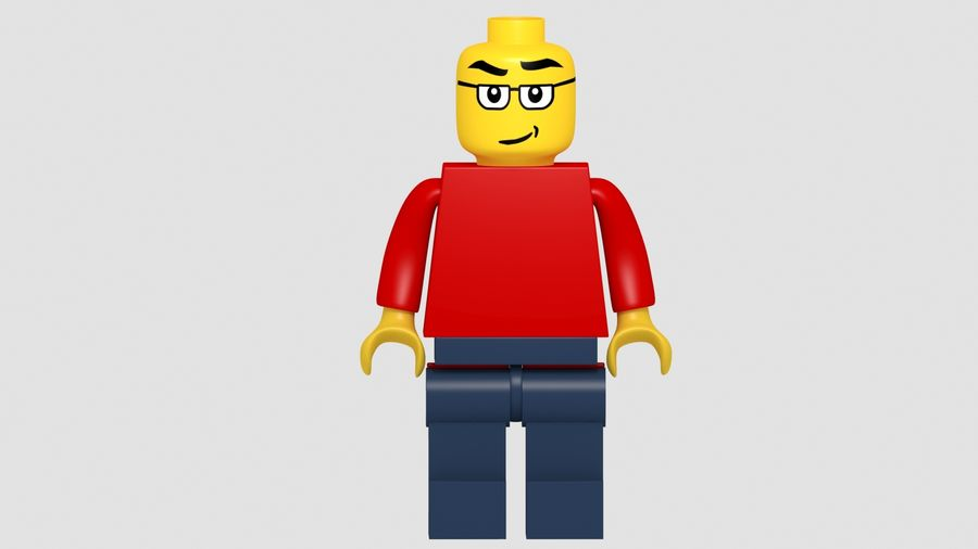 Lego Classic Model royalty-free 3d model - Preview no. 3