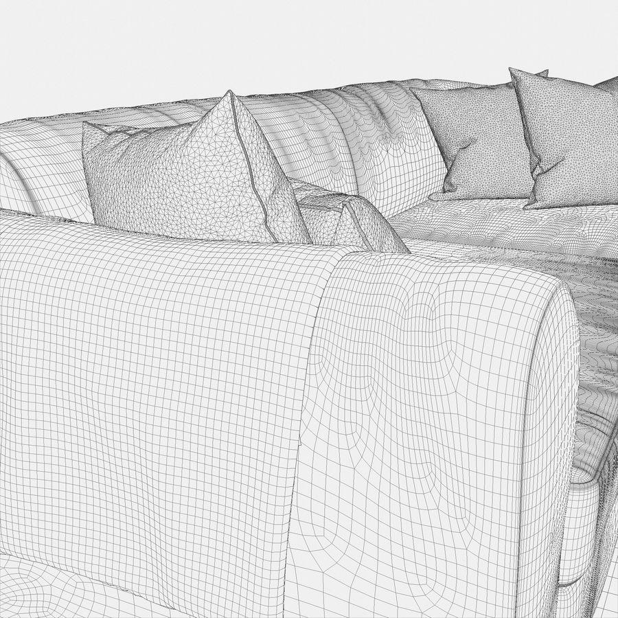 Zestaw do salonu z sofą royalty-free 3d model - Preview no. 18