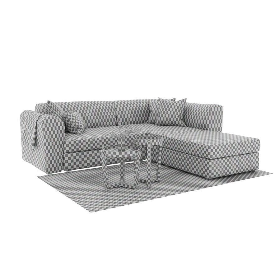 Zestaw do salonu z sofą royalty-free 3d model - Preview no. 8