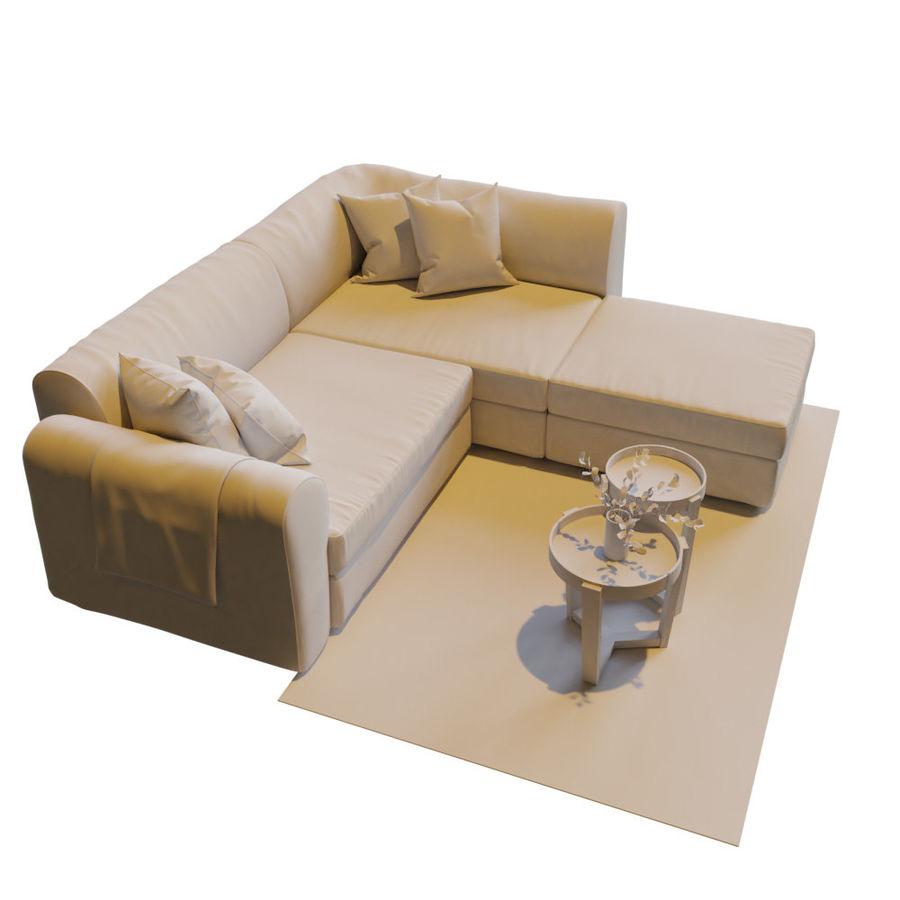 Zestaw do salonu z sofą royalty-free 3d model - Preview no. 13