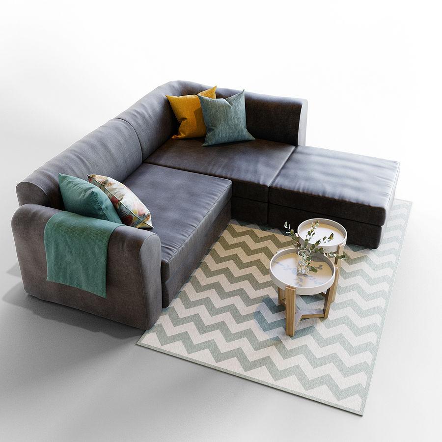 Zestaw do salonu z sofą royalty-free 3d model - Preview no. 4
