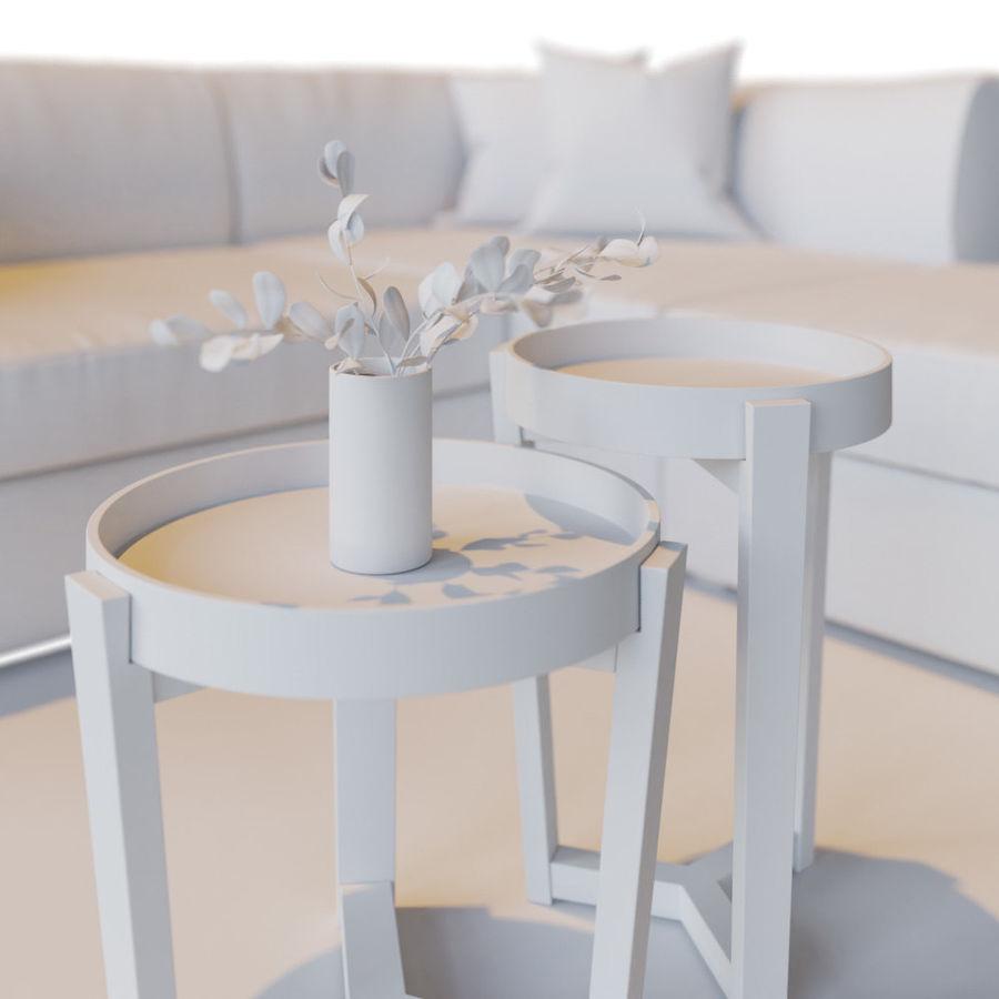 Zestaw do salonu z sofą royalty-free 3d model - Preview no. 15