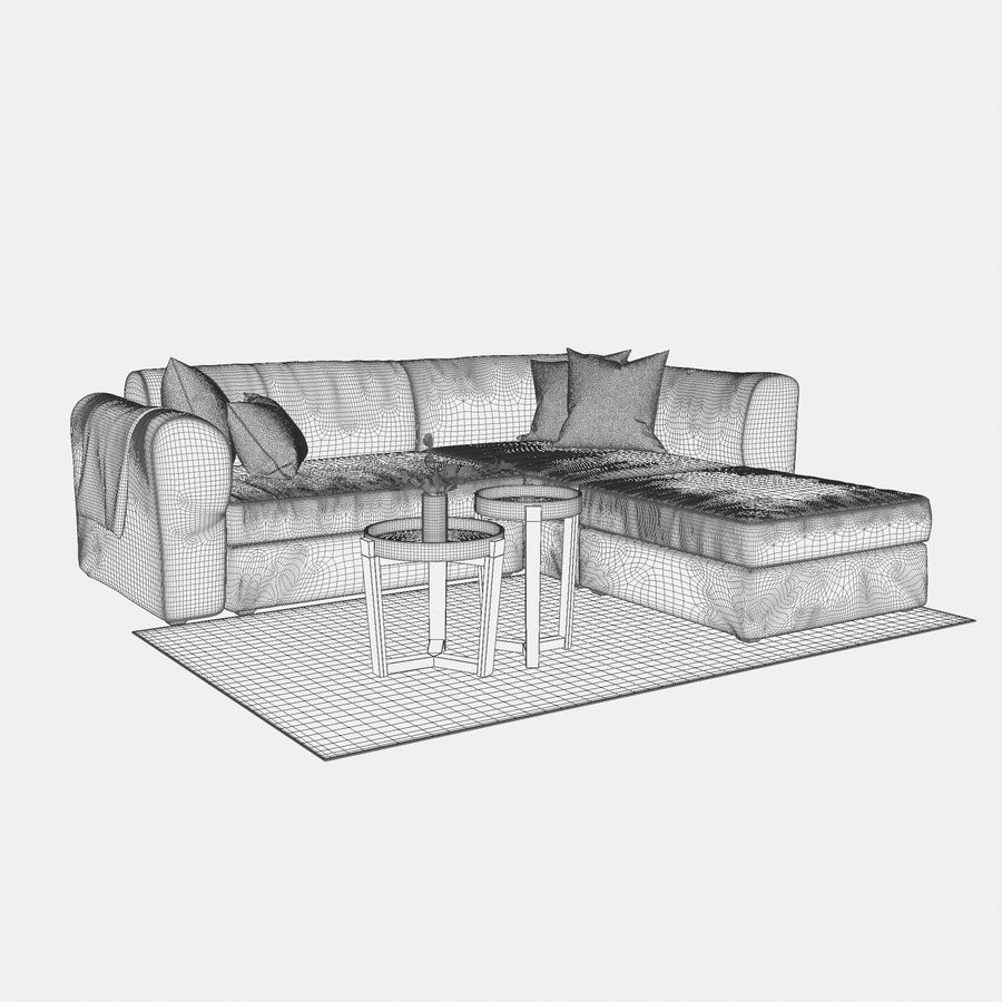 Zestaw do salonu z sofą royalty-free 3d model - Preview no. 10