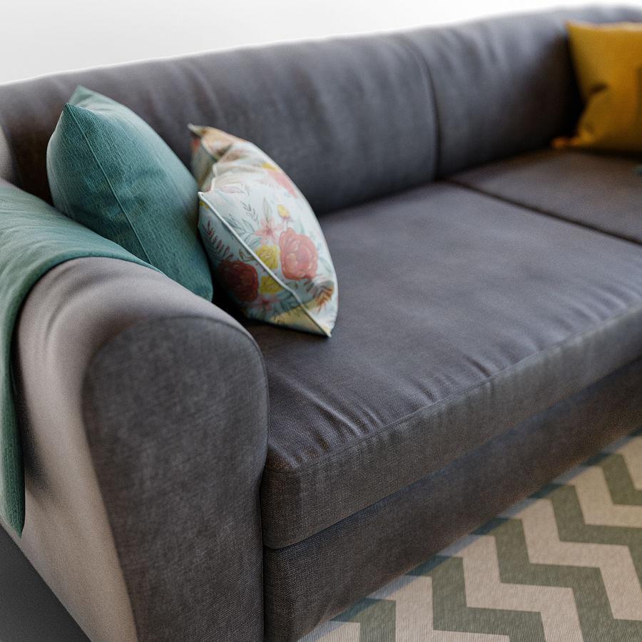 Zestaw do salonu z sofą royalty-free 3d model - Preview no. 3